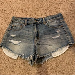 High rise festival jean shorts!
